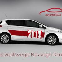 Kartka Noworoczna 2014 Toyota Klub